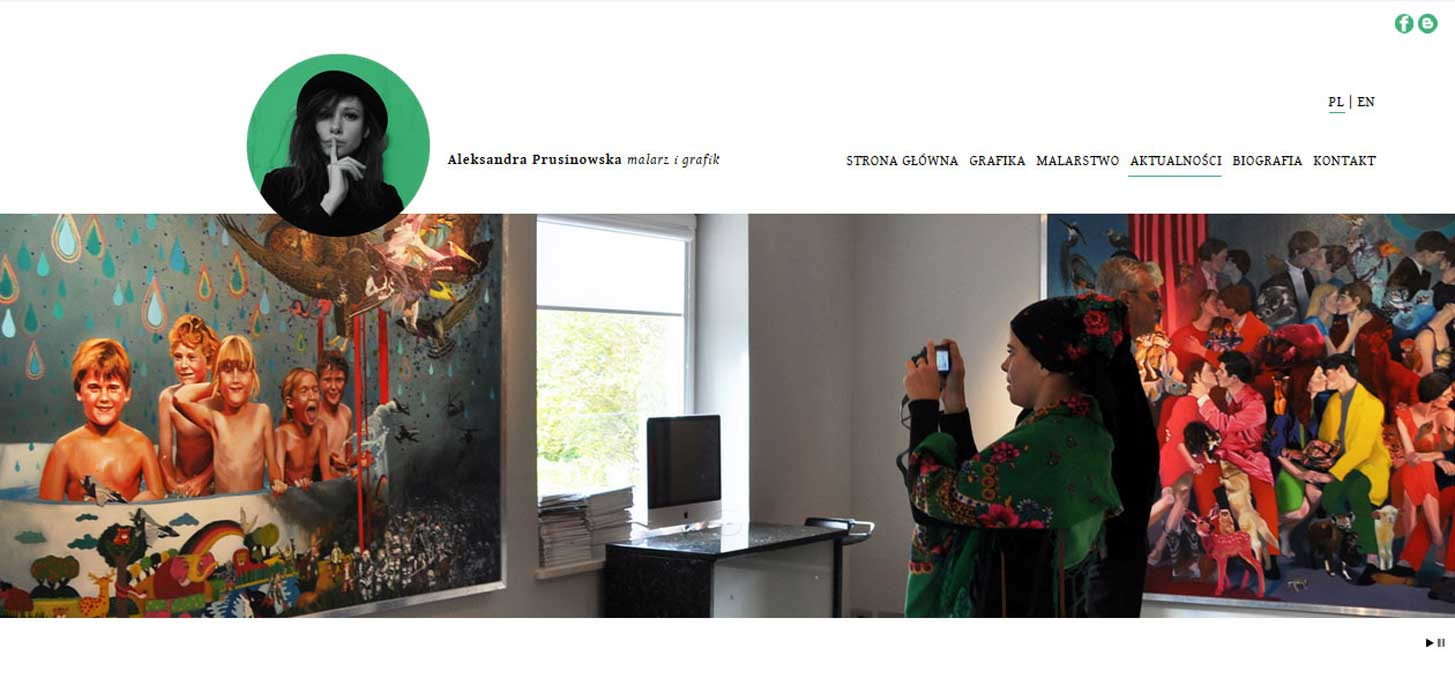 News page with informations about Aleksandra Prusinowska exhibitions