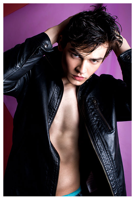 Bartosz Plichta in leather jacket