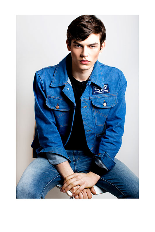 Bartosz Plichta in blue jeans jacket