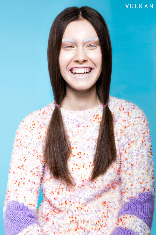 Sweet smile of Maria from Mango Models in Katarzyna Górecka sweater