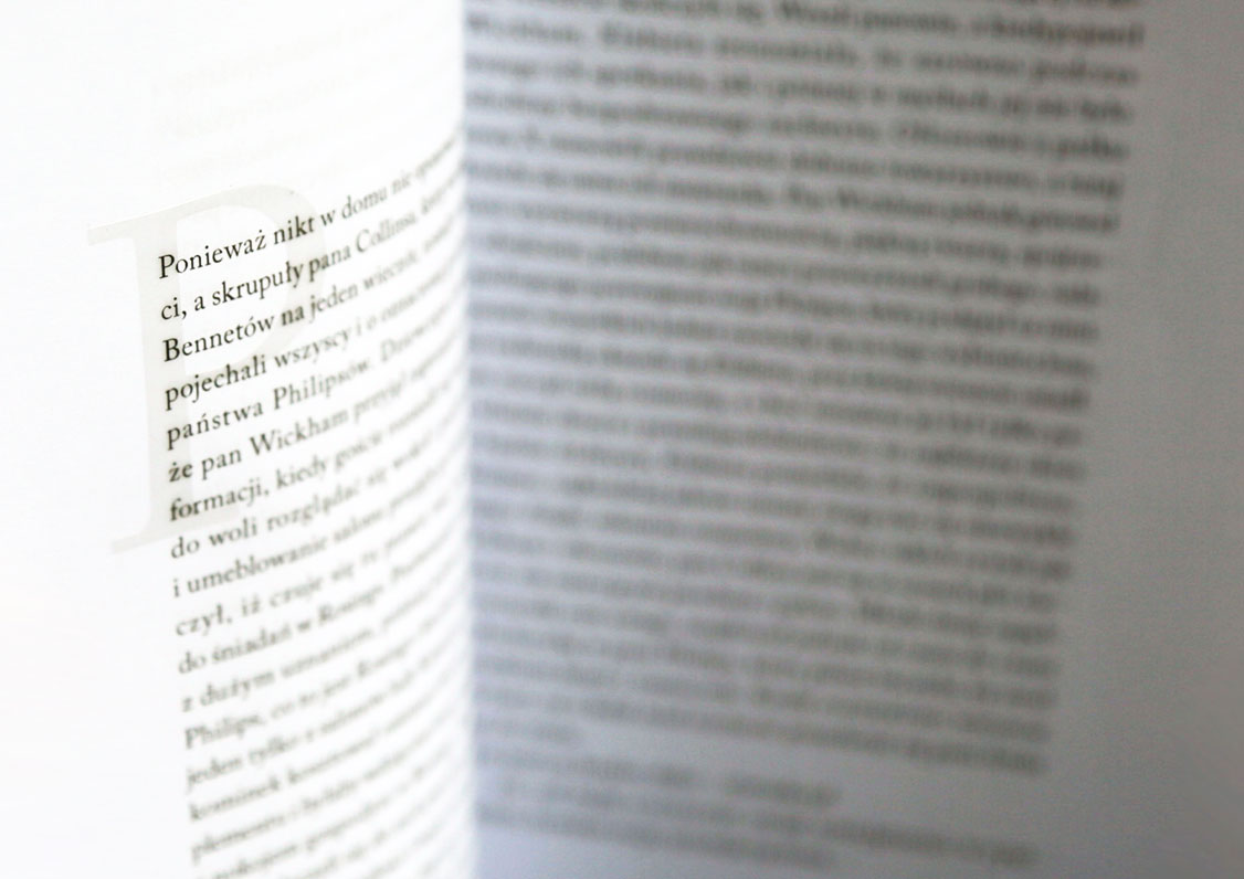Typography of book with transparent letters, by Magdalena Czajka