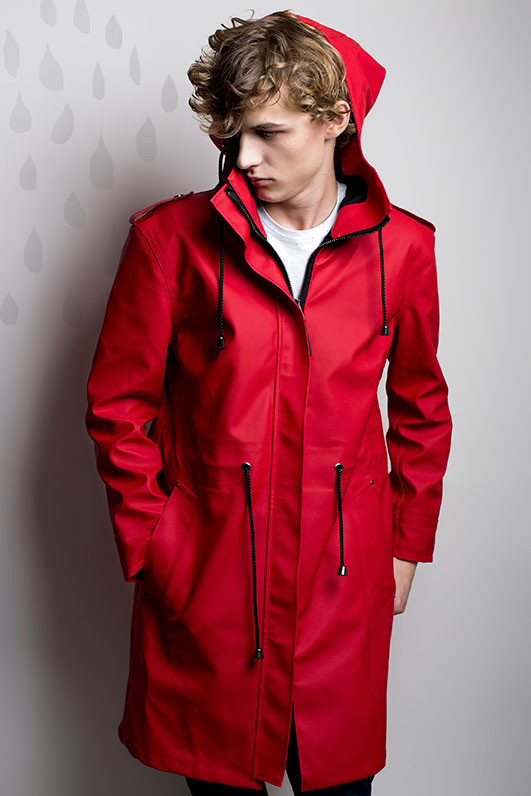 red raincoat DUCKDUCK