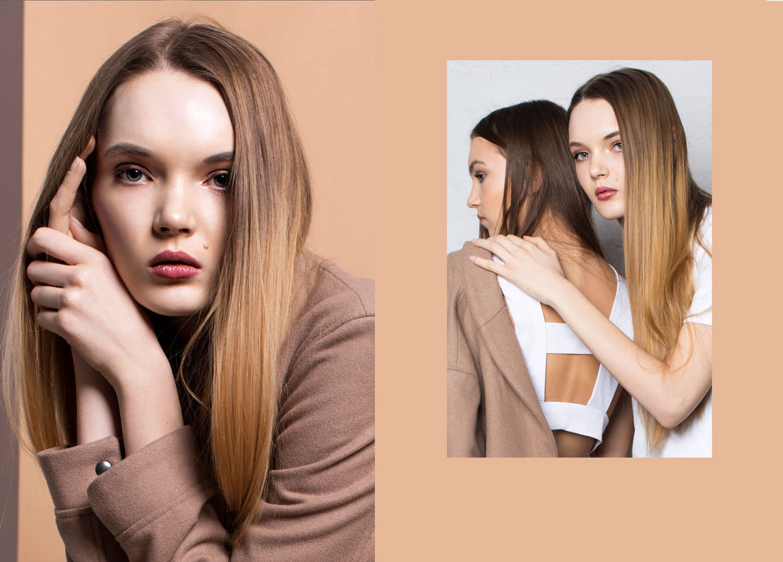 portraits of models for editorial Minimal Sisters