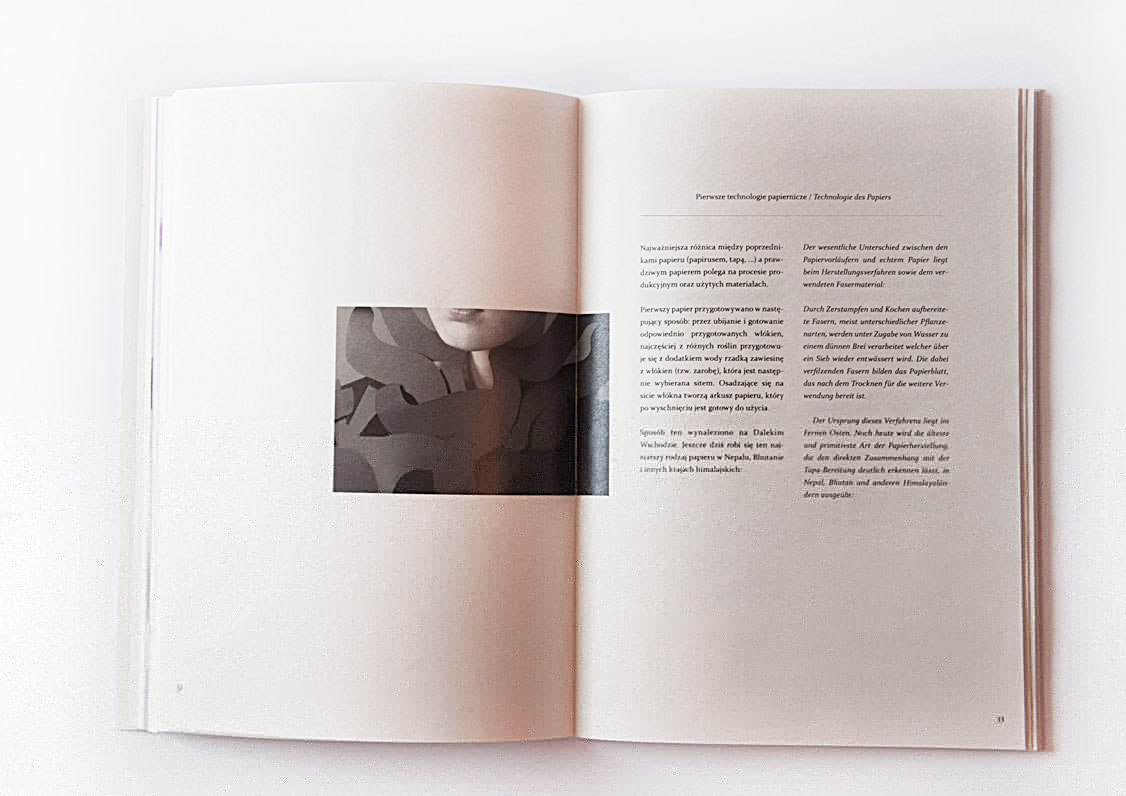 Page from magazine about paper, by Magdalena Czajka