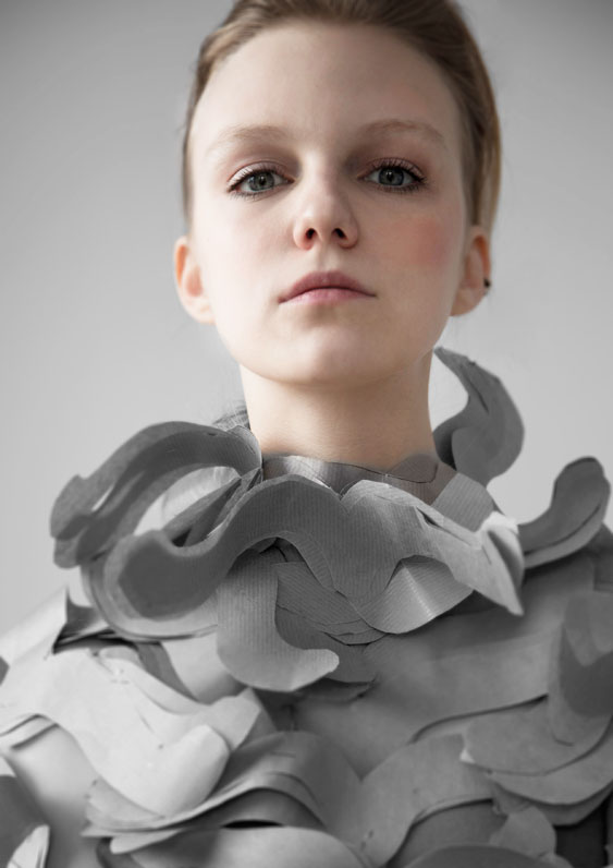 Claudia Gryz as a paper soldier