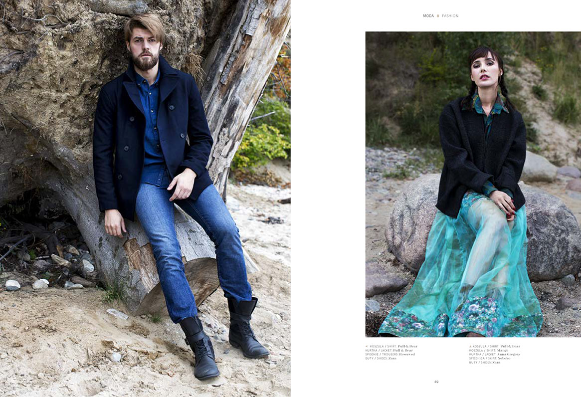 Adam Link and Weronika Gorecka in the editorial
