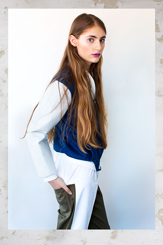 Polish model in bomber jacket