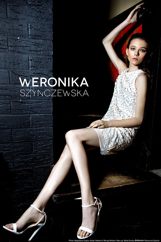 white dress from new collection of Szynczewska