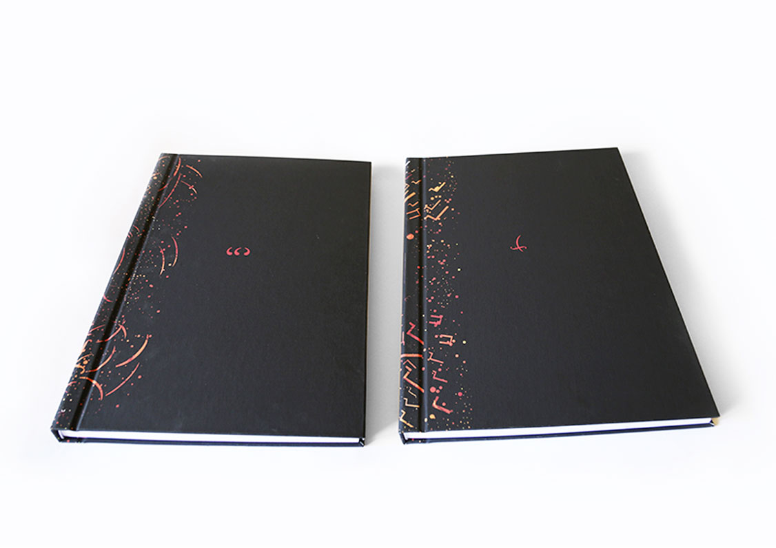 Two volumes of unique book design of With Fire and Sword written by Henryk Sienkiewicz