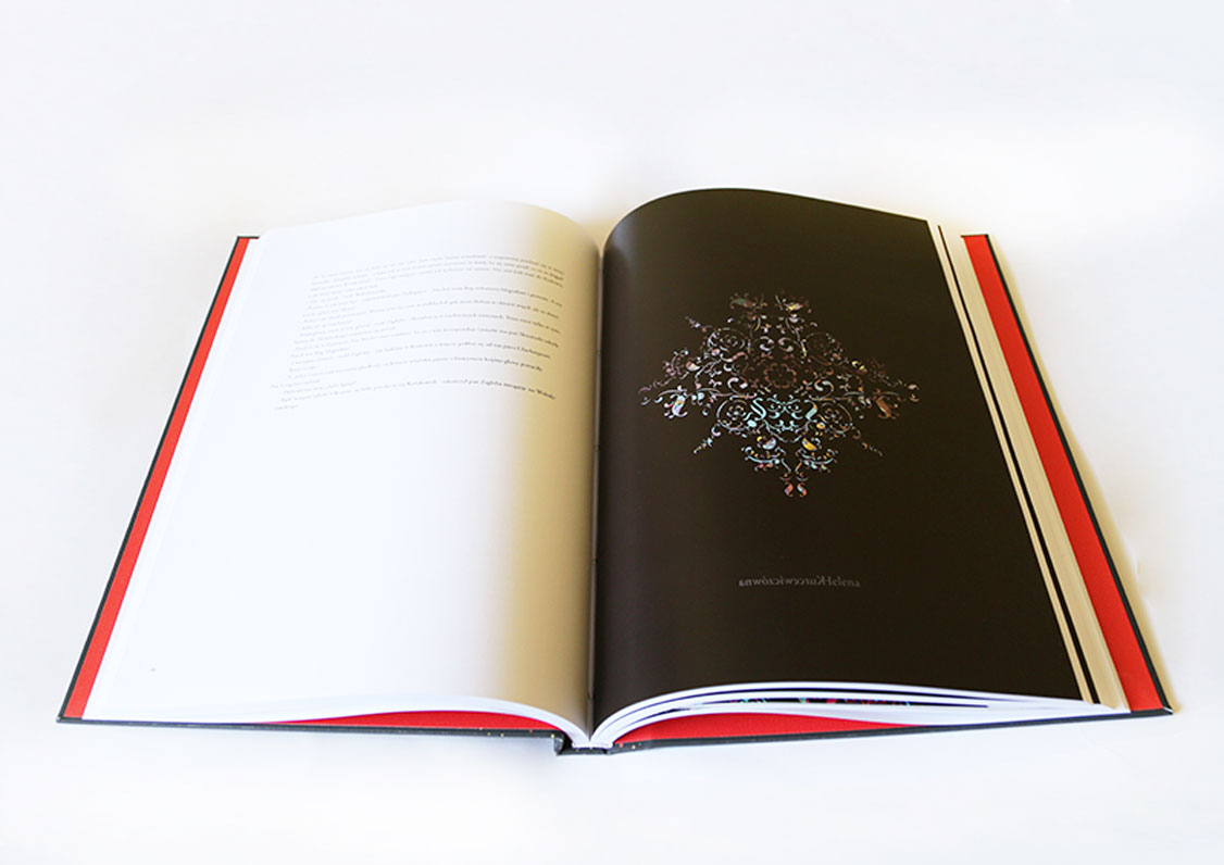 Pages with text illustrations made by typo